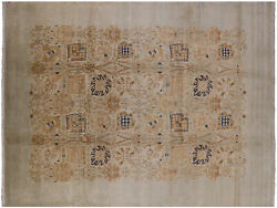 Peshawar Hand-knotted Wool Rug 8and039 10 X 11and039 9 - H9596