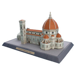 Brand New Florence Cathedral Italy Diy 3d Paper Model Famous Building Puzzle Kit