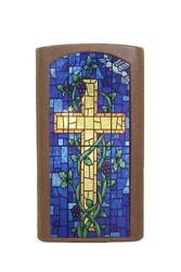 Church Pulpit Podium Wooden Christian Lectern Presentation Stained Glass Front