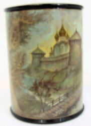 Fedoskino Handpainted Russian Lacquer Box The Monastery Of St. Cyril Tipyakov