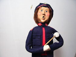 Byers Choice Caroler Salvation Army Christmas Band Drummer 1996 Nice Cond
