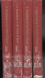 A Concordance To The Poetry Of Byron 4 Vols. Complete, Ed Ione Dodson Young 4v