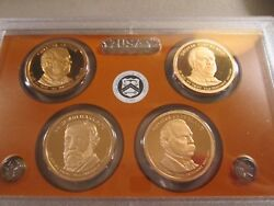 2012-s Us Presidential 1 Proof Set 4 Coin Set  005