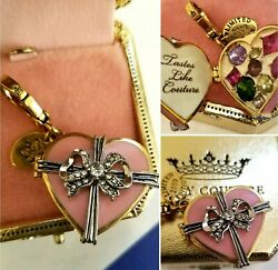 New In Box Nwt Juicy Couture Box Of Chocolates Heart Le Charm W Tag Box
