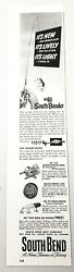 1947 Print Ad South Bend Fishing Rods, Reels, Bass-oreno Lures Indiana