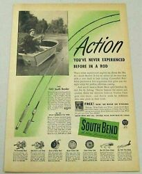 1948 Print Ad South Bend Fishing Rods And Reels Oreno Lures Indiana