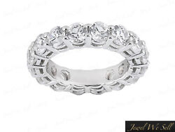 4.50ct Open Gallery Real Diamond Eternity Wedding Band Ring 14k White Gold Gh I1