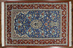 5' X 8' Authentic Signed Hand Knotted Wool & Silk Rug - SA2692