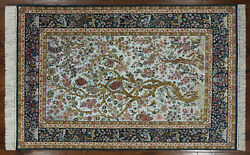 Tree Of Life Super Authentic Silk Oriental Signed Rug 5' X 8' - SA2698