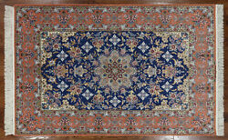 5' X 8' Hand Knotted Authentic Signed Oriental Wool & Silk Rug - SA2675