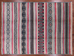 Signed Southwest Navajo Design Handmade Area Rug 9and039 5 X 12and039 3 - P6141