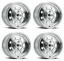 Set 4 15 Vision Muscle 531 Sport Lite Polished Wheels 15x10 5x4.5 -25mm Classic