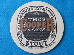 Beer Coaster Thomas Cooper And Sons Brewery Stout Adelaide, Australia Brewers
