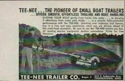 1954 Print Ad Tee-nee Small Boat Trailers Made In Youngstownoh