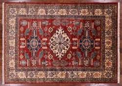 Super Kazak Hand Knotted Wool Area Rug 4' 10 X 6' 8 - P9009