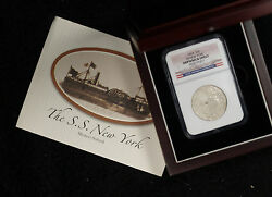 1824 Capped Bust Half Dollar Ngc Ss New York Shipwreck Effect Coin