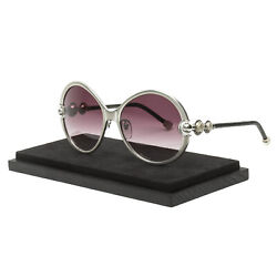 Shamballa Divinity Sunglasses Brushed Silver  Violet Gradient