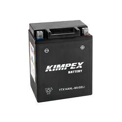 Kimpex Powerpack Battery Ref Ytx14ahl-bsgel Factory Activated Maintenance Free