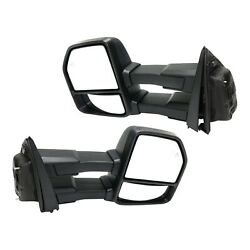 Tow Mirror Set For 2015 2018 Ford F150 Left And Right Power Fold Blind Spot Light