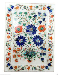 11x8 Marble Serving Tray Plate Mosaic Floral Marquetry Inlay Collectible Gifts