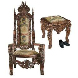 Design Toscano The Lord Raffles Throne and Ottoman Set