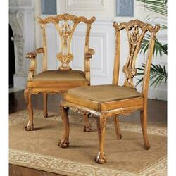 Design Toscano English Chippendale Chairs: Set of Six