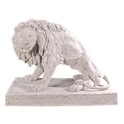 Design Toscano Kingsbury Garden Giant Lion Sentinel Statues Looking Right