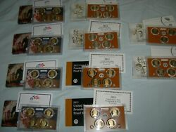 2007 S - 2016 S Presidential 1 Coin Proof Sets In Ogp 39 Coin Complet Set