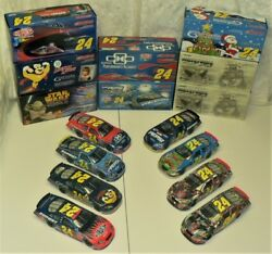 Nascar - Jeff Gordon - Lot Of 8 2005 Limited Collectable Cars By Action Racing