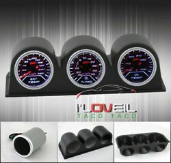 Exhaust Gas Temperature Gauge + Turbo Boost + Oil Temp + 52Mm Tri Pods Holders