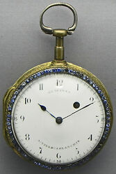 A 1 7/8 Inch Picture Verge Fusee Pocket Watch Made By Glaesner - Circa 1780