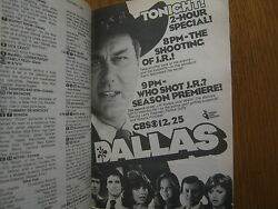1980 Tv Guide Dallas/the Return Of Frank Cannon/connie Needham/tim Conway