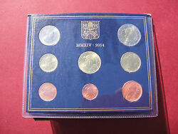 Official Rare Vatican Set Of 8 Coins Euro 2014 Pope Francis I