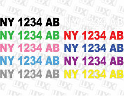 Two Custom Jet Ski And Boat Registration Number Decal Kit - Laminted And Durable