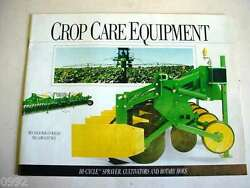 John Deere Hi-cycle Sprayer, Cultivators And Rotary Hoes Brochure 20 Page