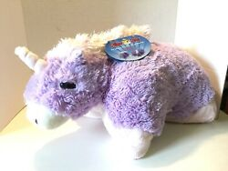 New* PILLOW PETS Large 18quot; Plush Purple Unicorn Stuffed Animal Huggable Pillow