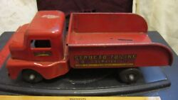 Vintage Pressed Steel Structo Toys Structo Towing Service Truck No. 910