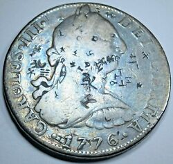 1776 Spanish Silver 8 Reales Rare 1970and039s Cayon Eight Real Us Colonial Era Coin