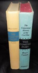 2 Bruce Catton Civil War First Editions The Coming Fury And This Hallowed Ground.