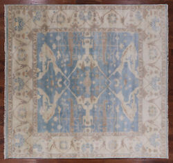 10' Square Hand Knotted Turkish Oushak Area Rug - Q1014
