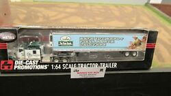 Dcp31268 The Pizza Ranch Kw W900 Semi Cab Truck Reefer Van Trailer 164/ Fc
