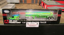 Dcp33004 I80 Truck Stop Walcott Volvo Semi Truck And Fuel Gas Trailer 164/pl