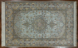 5' X 8' Authentic Signed Oriental Wool & Silk Rug - SA2663