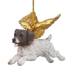 Design Toscano Honor the Pooch: Pointer Holiday Dog Angel Ornament
