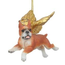Design Toscano Honor the Pooch: Boxer Holiday Dog Angel Ornament