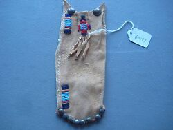 Northern Plains Beaded Medicine Pouch, Native American Beaded Bag, Co-00177