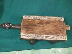 20th Century Senufo Rare African Head Rest Hand Carved Wooden Stool