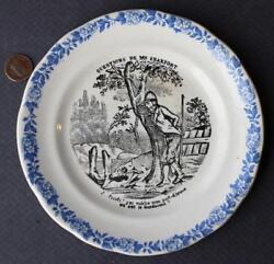 1930-40s Era Comic Hunting Scene Plate-man Going Potty-dog Sniffing His Boots