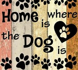 Home Is Where The Dog Is Full Square Drill 5D DIY Diamond Painting Cross Stitch