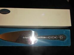 Boxed Sheffield Hallmarked 1978 Pie Server Repousse Handle Steel End Harrison Br